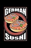 German Sushi: Notizbuch mit 120 Seiten liniertem Papier (5.5x8,5...