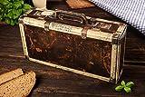 Wurst Geschenk Koffer - mit 24 besondere Salami und Wurst Snacks...