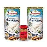 Bayerische Weißwürste aus der Dose inkl. Gratis Senf (2 Dosen &...
