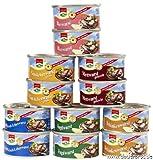 12 Dosen a 125g Dosenwurst, 6 Sorten je 2 Dosen, insgesamt 1,5 kg...